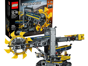 The $195 motorized Lego Technic Bucket Wheel Excavator features close to 4,000 pieces