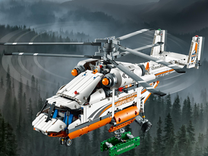 Build the $105 Lego Technic Heavy Lift Helicopter and prepare for takeoff