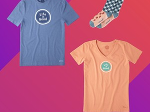 Life is Good is having a flash sale with prices from $4