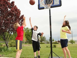 Get ready to shoot some hoops with this $77 Lifetime Pro Basketball System