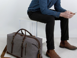 This Weekender Travel Duffle Bag is a stylish $40 carry-on option