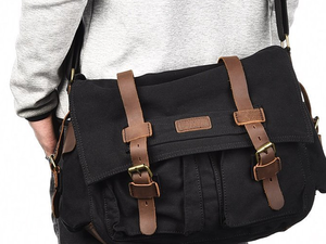 Bring along your laptop and important files with Luxur's $19 messenger bag