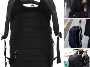 Treat yourself to LUXUR's laptop backpack with USB port for $18