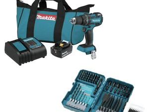 Expand your tool collection with this $136 Makita drill-driver kit and 70-piece bit set