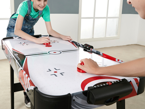 This $10 Air Hockey Table folds away for quick and easy storage