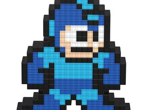 Show off your love for Mega Man with this light-up figure