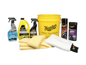 Keep your vehicle looking pristine with Meguiar's Essentials Car Care Kit for $47