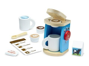 Start them young with this $14 Melissa & Doug pretend coffee maker set