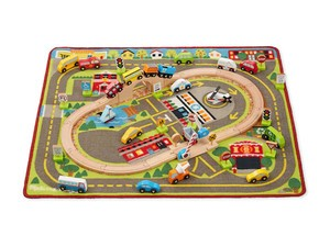 Get a Melissa & Doug Vehicle Rug Playset for only $36