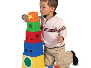 Save $10 on this Melissa & Doug Stacking Blocks Set at Amazon