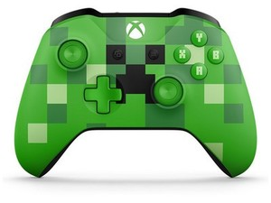 Show off your fandom with the Xbox One Minecraft Creeper controller