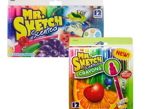 Revisit your childhood with Mr. Sketch scented markers or crayons for $5