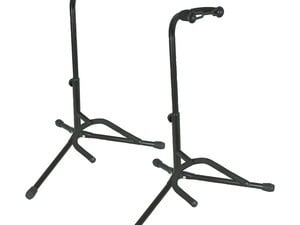 Today only, score two guitar stands for $10