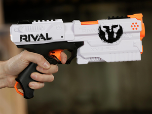 Start a game of Capture The Flag with the $12 Nerf Rival Kronos XVII-500 blaster