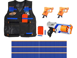 Take over the neighborhood with the $40 Nerf Strike Pack Bundle