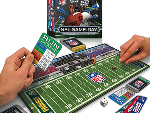 Reach the end zone first in the $20 NFL Game Day Board Game