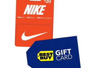 Get a bonus $10 Best Buy gift card with your $50 Nike gift card purchase