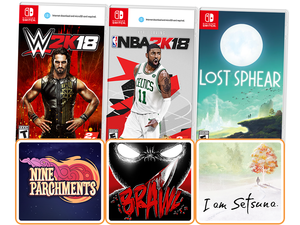 Lost Spear, NBA 2K18 & other Nintendo Switch game downloads are discounted right now