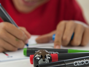 This $42 Ozobot Bit Coding Robot for kids comes with Guardians of the Galaxy accessories