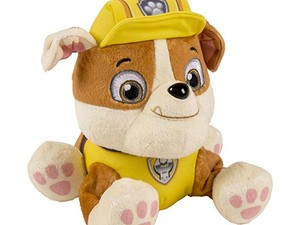Gift your Paw Patrol fan this Rubble plush pup for $6