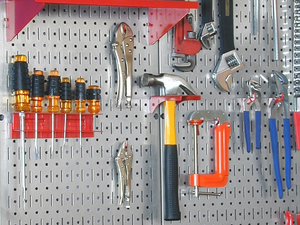 Begin your spring cleaning with this $29 galvanized steel pegboard pack