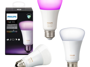 Score three Philips Hue multi-color A19 smart bulbs for the price of two