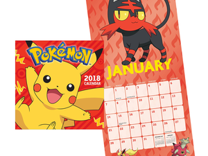 Adorn your walls with Pikachu and this $4 Pokémon 2018 Calendar