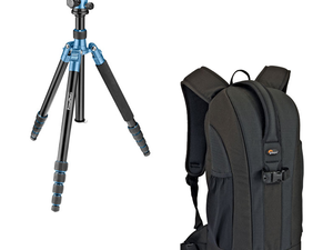 Go prepared for the shot with this $80 Prima Photo tripod & Lowepro backpack bundle
