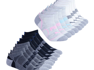 Pick up 8 pairs of comfy Puma No-Show socks for just $9 each