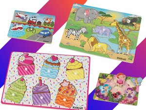 These KidKraft wooden puzzles are on sale with prices starting at $3