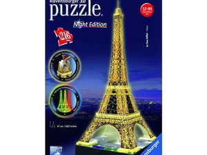 Build your own Eiffel Tower with this $17 light-up Ravensburger 3D Puzzle