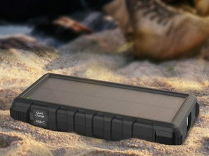 RAVPower's $40 power bank has a 25000mAh battery and solar panel built-in