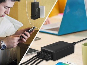 Easily power up four devices at the same time using this $13 charging station