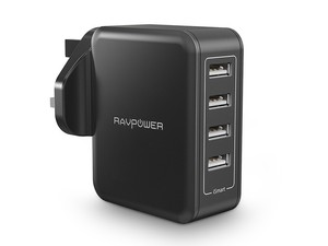 Charge four devices at once with the £9 RAVPower 4-port USB Wall Charger