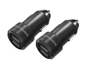 Keep your devices powered on the go with two of these dual USB car chargers for just £6