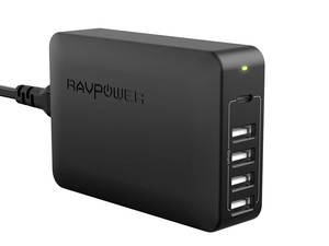 Power up five of your devices at once with RAVPower's $20 USB PD charging station