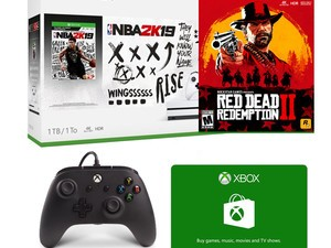Score a Microsoft Xbox One S, Red Dead Redemption 2, a controller, & more for $259