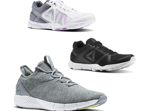 Choose from 20 styles of Reebok training shoes for $30 each with free shipping
