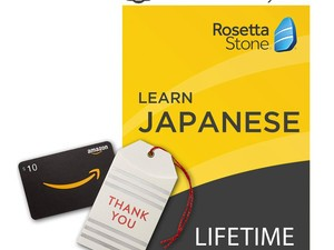 Get lifetime access to the Rosetta Stone program of your choice + a $10 Amazon gift card for $179 today