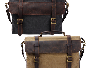 Travel in style with S-Zone's $21 Vintage Canvas Messenger Laptop Bag