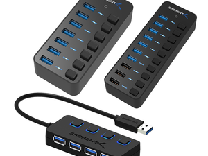 Expand your computer's capabilities with a Sabrent USB Hub on sale from $11