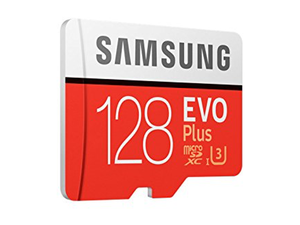 Store up to 128GB on this $80 Samsung EVO Plus microSDXC card