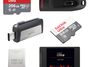 Stock up on storage with discounts on SanDisk Flash Drives, SSDs and microSD cards