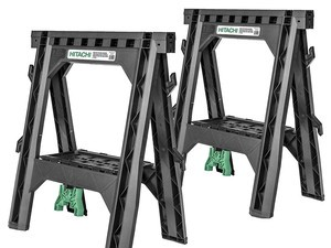 These two $28 Hitachi sawhorses can hold up to 1,200 pounds