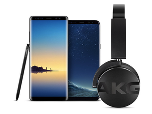 Score a free set of AKG Bluetooth headphones with a Galaxy S8 or Note 8