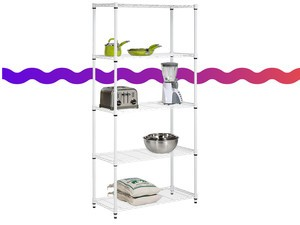Add some extra storage space with the $49 Honey-Can-Do 5-tier adjustable shelf