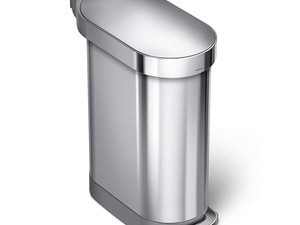 Replace your grubby trash can with this discounted Simplehuman Slim Step 12-gallon brushed stainless steel model