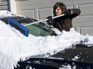 Bust up ice and shove snow off your car with this $8 Snow Joe Broom