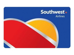 Save on your next vacation with a $150 Southwest Airlines gift card for $135