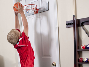 Shoot some hoops in the office with Spalding's $18 NBA Slam Over-The-Door Mini Basketball Hoop